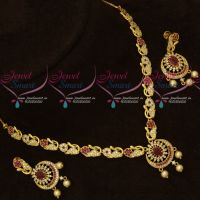 South Indian AD Jewellery Matching Screwback Earrings Latest Collections Online