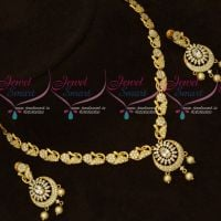 AD White Stones Low Price Good Quality Imitation Necklace Shop Online