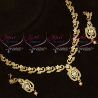 Latest AD White Stones Artificial Jewellery Designs Gold Look Online