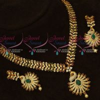 Broad Design Imitation AD Stones Jewellery Set Latest Gold Models Online
