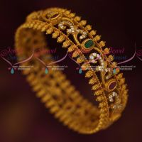 Single Piece Light Weight Antique AD Stones Artificial Jewellery Bangles Online