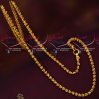 Gold Covering Chains Daily Wear Imitation Jewellery South Indian Designs