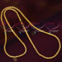 Artificial Jewellery Daily Wear Gold Covering Chains 3 MM Thick 24 Inches Length