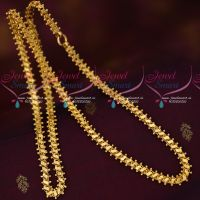 Kerala Style Imitation Gold Plated Daily Wear Chains 7MM 24 Inches Length