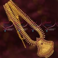 South Indian Imitation Jewellery Designs Gold Covering Ruby Haram Latest Models