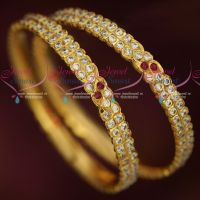 2 Line Thick Metal Getti Item AD Hand Setting Stone Bangles Online