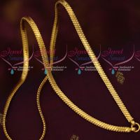 4.5 MM Flat Bullet Model Chain 24 Inches Gold Covering Designs Online