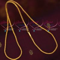 2.5 MM 24 Inches Murukku Kodi Chain South Indian Daily Wear Gold Covering