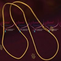 Fancy Gold Covering Chain 24 Inches 3 MM Daily Wear South Indian Collections