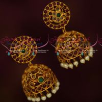 Traditional Design Kemp Jewellery Jhumka Earrings Matte Antique Collections