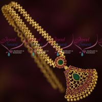 Low Price Gold Plated South Indian Attigai Chain Pendant AD Stones