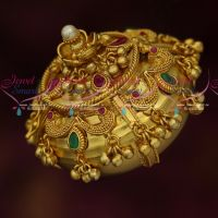 Beads Hanging Kum Kum Sindoor Box Latest Gold Plated Jewellery Finish Online