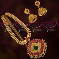 South Indian Fancy Gold Covering Mango Chain Jhumka Earrings Shop Online