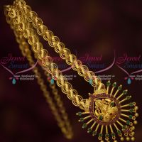 Broad Chain Sun Design Temple Pendant Latest Gold Covering Imitation Jewelry Online