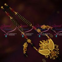 Temple Jewellery Gold Plated Beaded Mangalsutra Black Beads Mala Shop Online