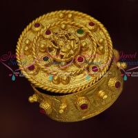 Temple Kumkum Barina Sindoor Box Gold Plated Jewellery Finish Online