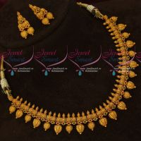 Beautiful Gold Finish Antique Fashion Artificial Jewellery Necklace Set Online