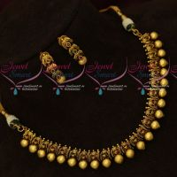 AD Stones Antique Artificial Jewellery Beads Design Fancy Necklace Set Online