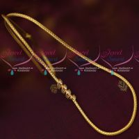 Gold Plated Kodi Chain AD Spiral Design Mugappu Trendy Jewellery Models