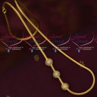 Thali Kodi Roll Chain White AD Ball Mugappu Latest Trendy Imitation Jewellery Online