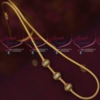 Multi Colour AD Ball Gold Model Mugappu Roll Kodi Chain Trendy Jewellery Online