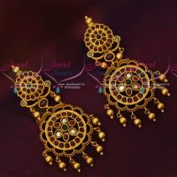 Kemp AD Traditional Gold Finish Earrings South Indian Imitation Jewelry Online
