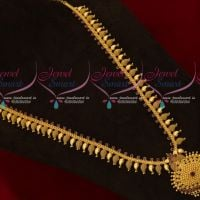 Ruby AD Stones Traditional Mango Mala Haram Gold Plated Regular Wear Jewellery