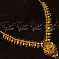 Ruby AD Stones Short Mango Mala Daily Wear Gold Covering Jewellery