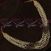Multi Strand Pearl Mala Red Green Glass Beads Combined Jewellery Shop Online