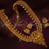 Real Kemp Stones Temple Jewellery Haram Lord Krishna Designs Online