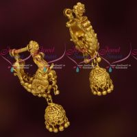 Traditional Gold Design Earrings Intricately Finished Imitation Jewellery Online