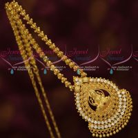 Gold Plated Temple Jewellery South Indian Designs Chain Pendant Online
