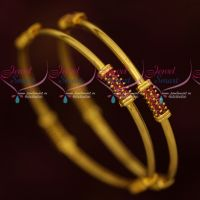 Casual Wear Ruby Stones Jewellery Elegant Stylish Bangles Online
