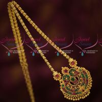 South Indian Traditional Gold Plated Daily Wear Chain Pendant Wholesale Prices