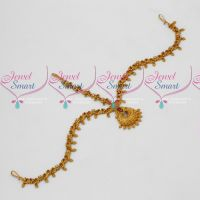 Ruby Stones Damini Matte Antique Bridal Floral Design Jewellery Designs Online