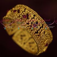 Latest Antique Gold Plated Jewellery Kemp Kada Bangle Party Wear Models Online