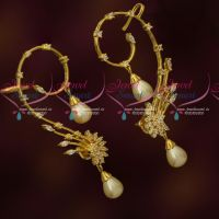 Latest Stylish Bluetooth Earrings Pearl Drops Extra Clip On Support