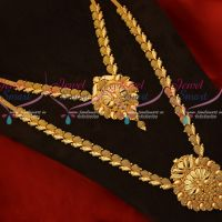 Peacock Design Pendant Handmade Imitation Jewellery Gold Covering South Indian