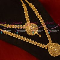 Gold Plated Short Long Matching Jewellery Set Copper Handmade Leaf Design Collections