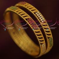 Daily Wear AD Jewellery Gold Plated Bangles Latest Designs Imitation