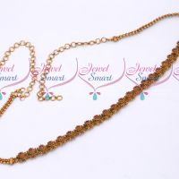 Peacock Design Ruby Stones Chain Vaddanam Bridal South Indian Jewellery Designs Online