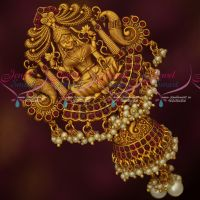 Ruby Temple Hair Jewellery Matte Gold Plated Single Piece Choti Ucchi Billa Online