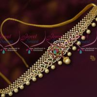 AD Stones Flexible Chain Vaddanam Latest Bridal Jewellery Designs Online