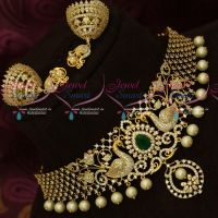 Latest AD Fashion Jewellery Designs Bridal Party Wear Choker Necklace Online