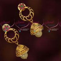 Trendy Design Antique Matte AD Jhumka Earrings Womens Jewellery Online