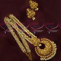 Pearl Necklace Temple Pendant Matching Earrings Traditional Antique Jewellery Online