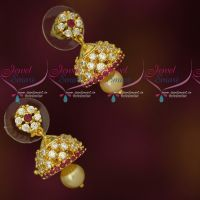 Small Size AD Jhumkas Latest Design Low Price Earrings