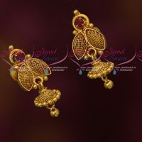 Small Size Light Weight Gold Covering Daily Wear Jhumka Earrings Online
