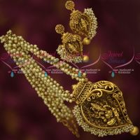 Pearl Mala Antique Temple Gold Plated Jewellery Lord Ganapathy Design