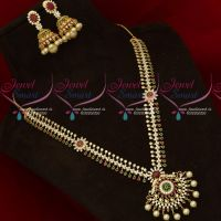 AD Multi Colour Stones Fashion Jewellery Medium Haram Latest Gold Plated Collections
